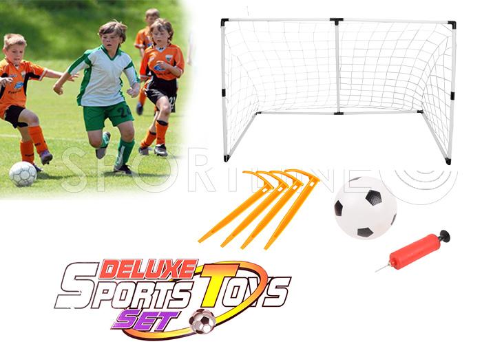 fu balltore f r kinder soccer goal netz pumpe ball gartenspielzeug ebay. Black Bedroom Furniture Sets. Home Design Ideas